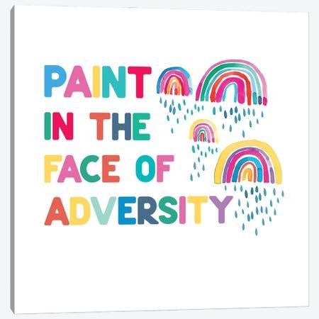 Paint In The Face Adversity Rainbows Canvas Print #NDE185} by Ninola Design Art Print