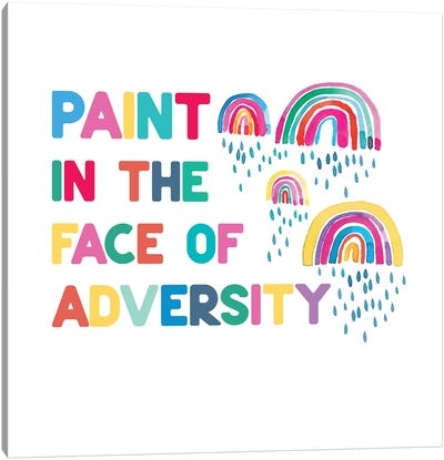 Paint In The Face Adversity Rainbows Canvas Art Print