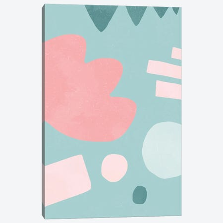 Organic Shapes Matisse Pop Pink Canvas Print #NDE186} by Ninola Design Art Print