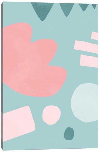 Organic Shapes Matisse Pop Pink Canvas Art Print