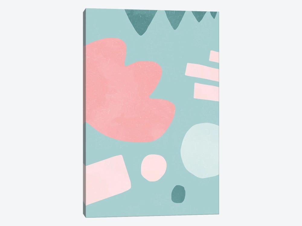 Organic Shapes Matisse Pop Pink by Ninola Design 1-piece Canvas Print