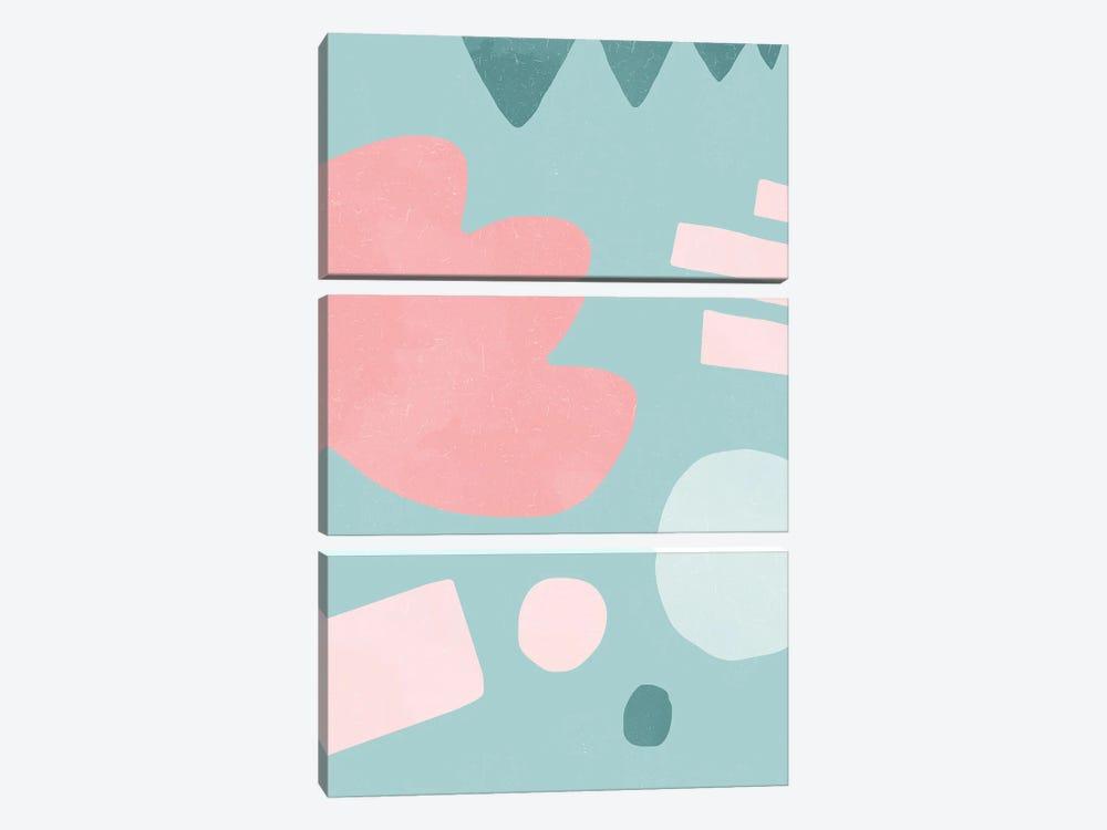 Organic Shapes Matisse Pop Pink by Ninola Design 3-piece Canvas Art Print