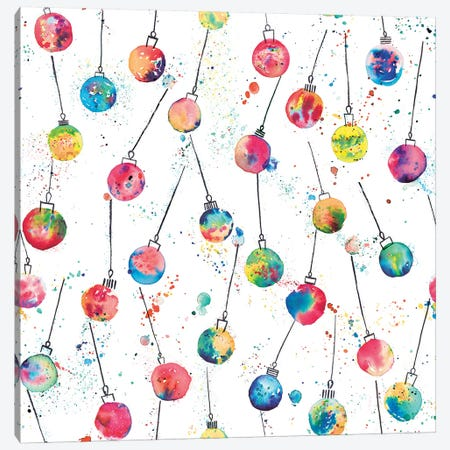 Christmas Baubles Canvas Print #NDE18} by Ninola Design Art Print