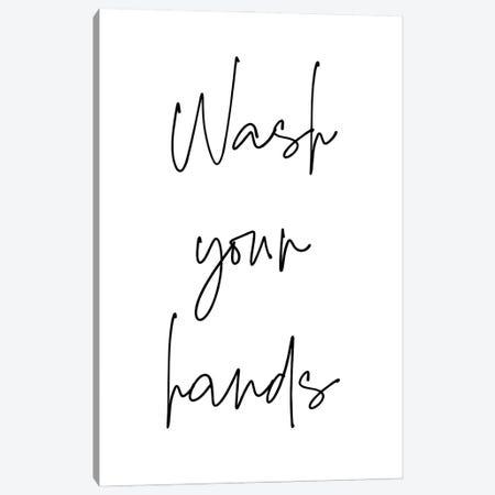 Wash Your Hands Canvas Print #NDE191} by Ninola Design Art Print