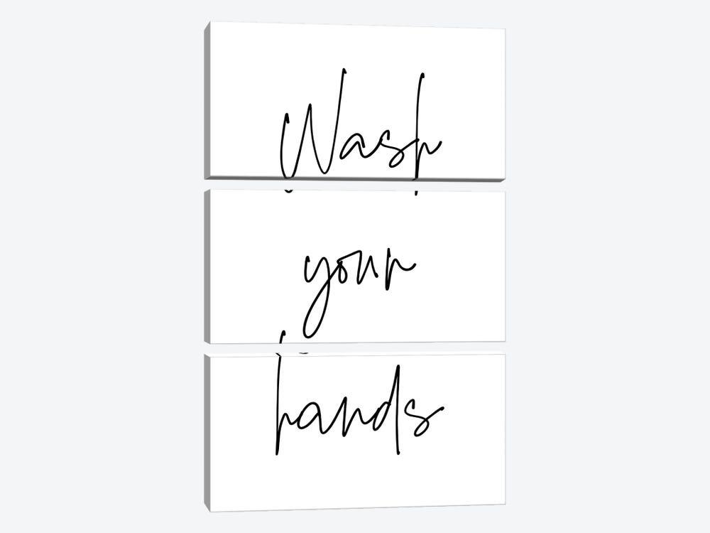 Wash Your Hands by Ninola Design 3-piece Canvas Art Print