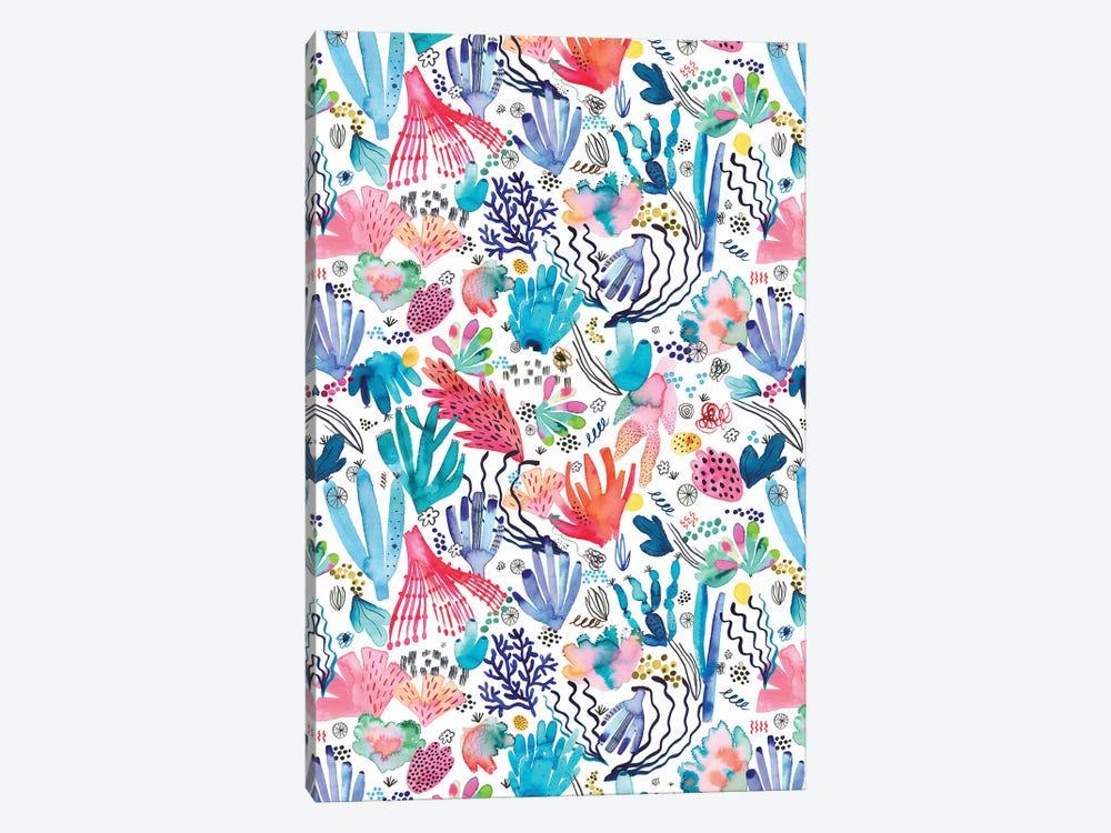 Watercolor Coral Reef Multicolored by Ninola Design 1-piece Canvas Art Print