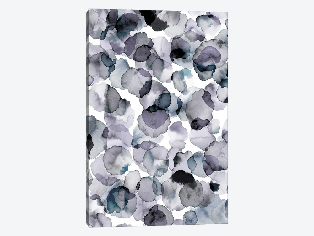 Watercolor Petals Gray by Ninola Design 1-piece Art Print