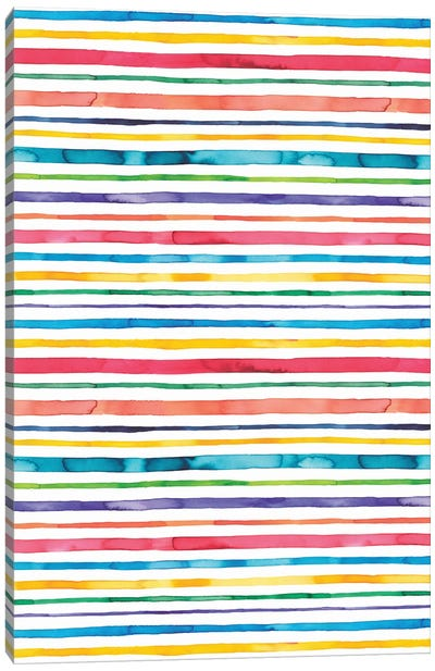 Watercolor Stripes Multi Canvas Art Print