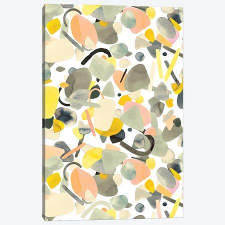 Abstract Geometric Shapes Yellow Canvas Print #NDE197} by Ninola Design Canvas Wall Art