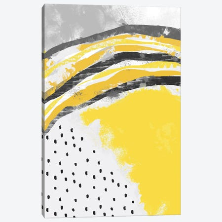 Abstract Painting Illuminating Yellow Canvas Print #NDE198} by Ninola Design Art Print