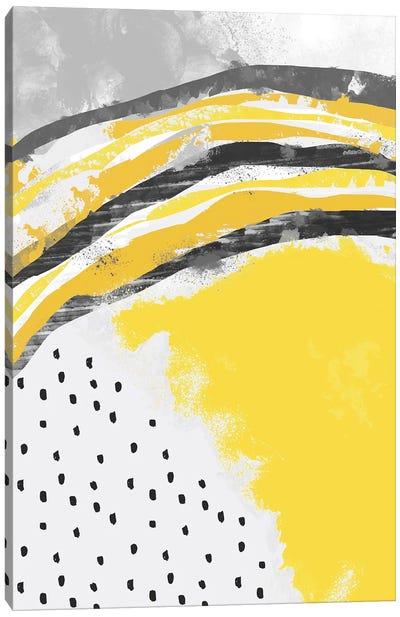 Abstract Painting Illuminating Yellow Canvas Art Print