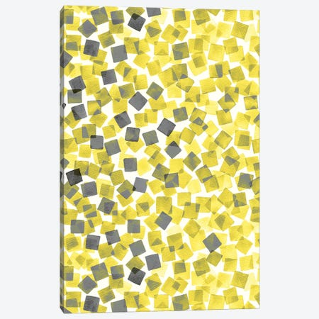 Confetti Illuminating Yellow Canvas Print #NDE199} by Ninola Design Canvas Art Print