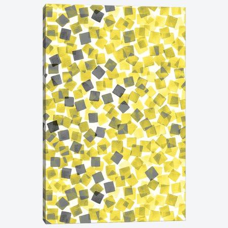 Confetti Illuminating Yellow Canvas Print #NDE199} by Ninola Design Canvas Art Print