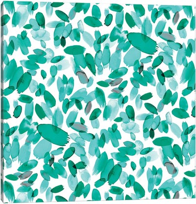 Abstract Petals Mint Canvas Art Print