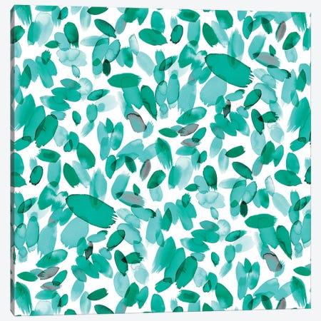Abstract Petals Mint Canvas Print #NDE1} by Ninola Design Canvas Art Print
