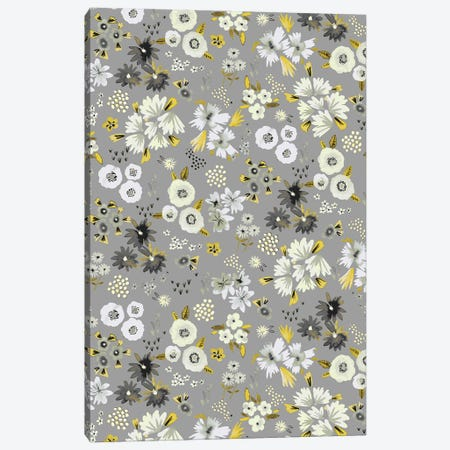 Little Flowers Ultimate Gray Canvas Print #NDE202} by Ninola Design Canvas Art Print