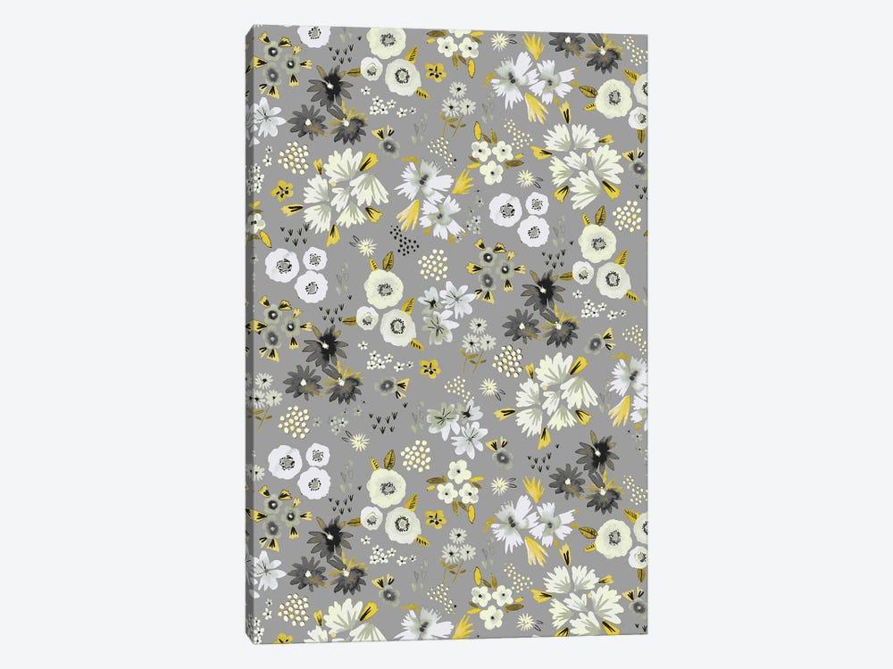 Little Flowers Ultimate Gray by Ninola Design 1-piece Art Print