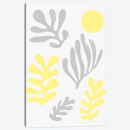 Matisse Leaves Illuminating Yellow Ultimate Canvas Print #NDE203} by Ninola Design Canvas Print