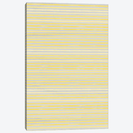 Marker Stripes Illuminating Yellow Ultimate Canvas Print #NDE204} by Ninola Design Canvas Wall Art