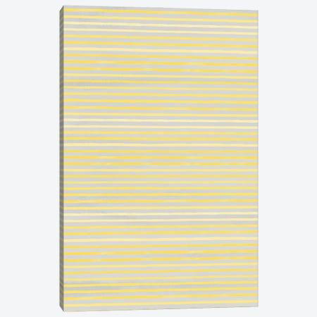 Marker Stripes Illuminating Yellow Ultimate Canvas Print #NDE204} by Ninola Design Canvas Wall Art