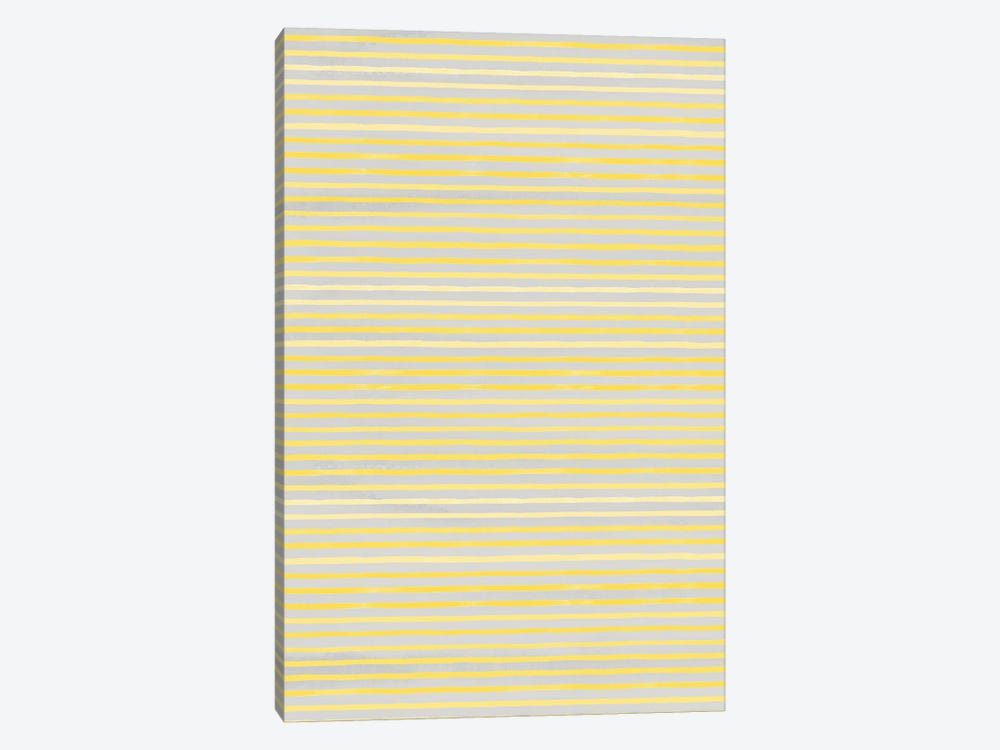 Marker Stripes Illuminating Yellow Ultimate by Ninola Design 1-piece Canvas Art Print