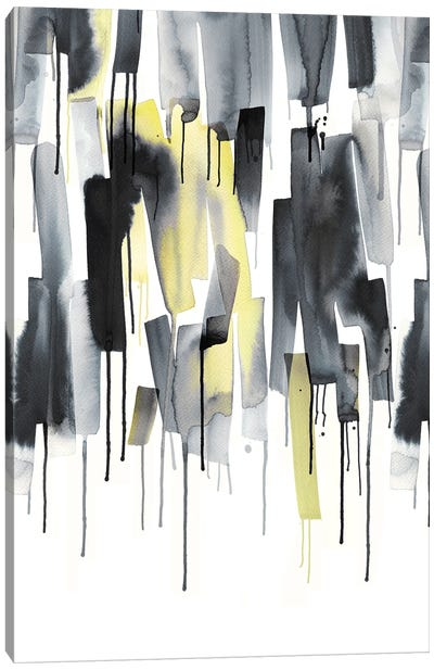 Watercolor Stripes Ultimating Gray Canvas Art Print