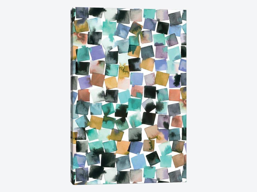 Watercolor Geometric Abstract Plaids by Ninola Design 1-piece Canvas Print