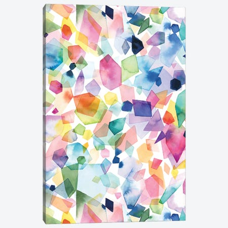 Watercolor Crystals Agates And Gems Canvas Print #NDE216} by Ninola Design Canvas Art Print