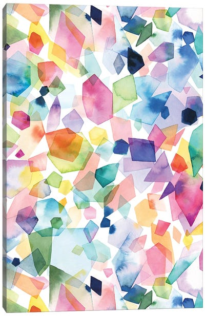 Watercolor Crystals Agates And Gems Canvas Art Print