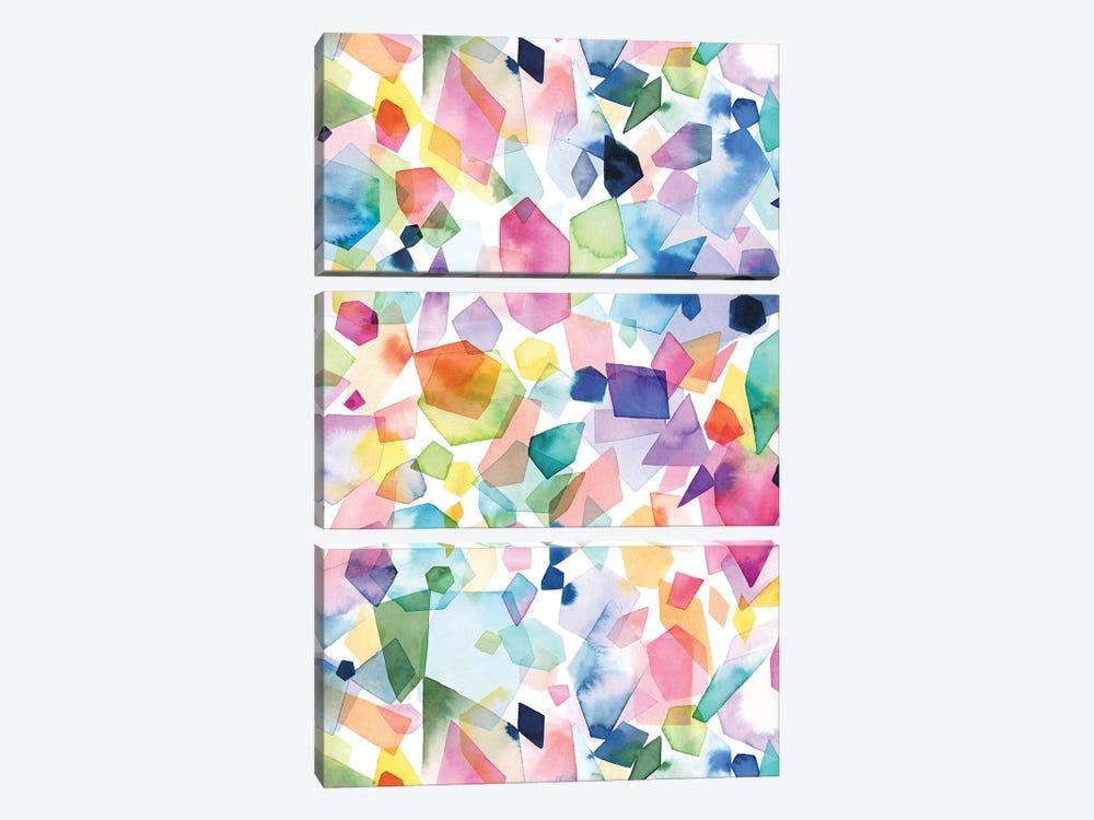 Watercolor Crystals Agates And Gems by Ninola Design 3-piece Canvas Art