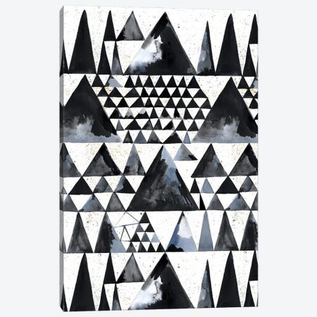 Japandi Ink Scandi Minimal Triangles Canvas Print #NDE229} by Ninola Design Canvas Print