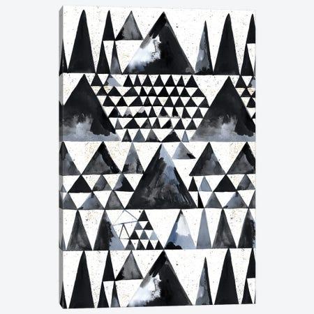 Japandi Ink Scandi Minimal Triangles Canvas Print #NDE229} by Ninola Design Canvas Print