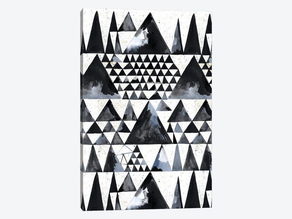 Japandi Ink Scandi Minimal Triangles by Ninola Design 1-piece Canvas Art