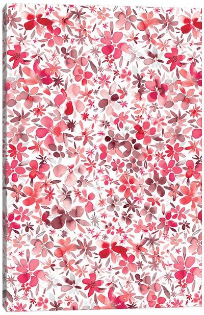Colorful Flowers Petals Coral  Canvas Art Print