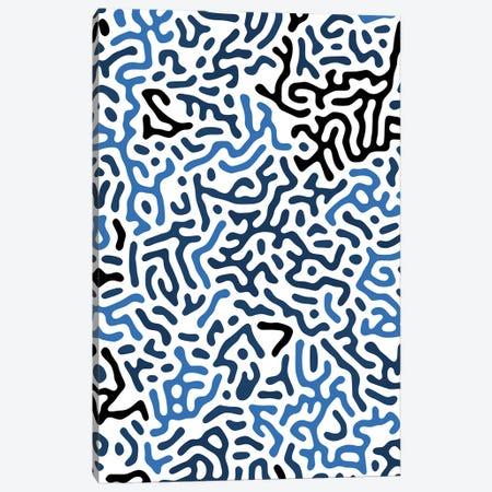 Organic Geo Digital Shapes Blue Canvas Print #NDE234} by Ninola Design Canvas Print