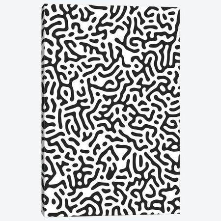 Organic Geo Digital Shapes Monochromatic Canvas Print #NDE235} by Ninola Design Canvas Art Print
