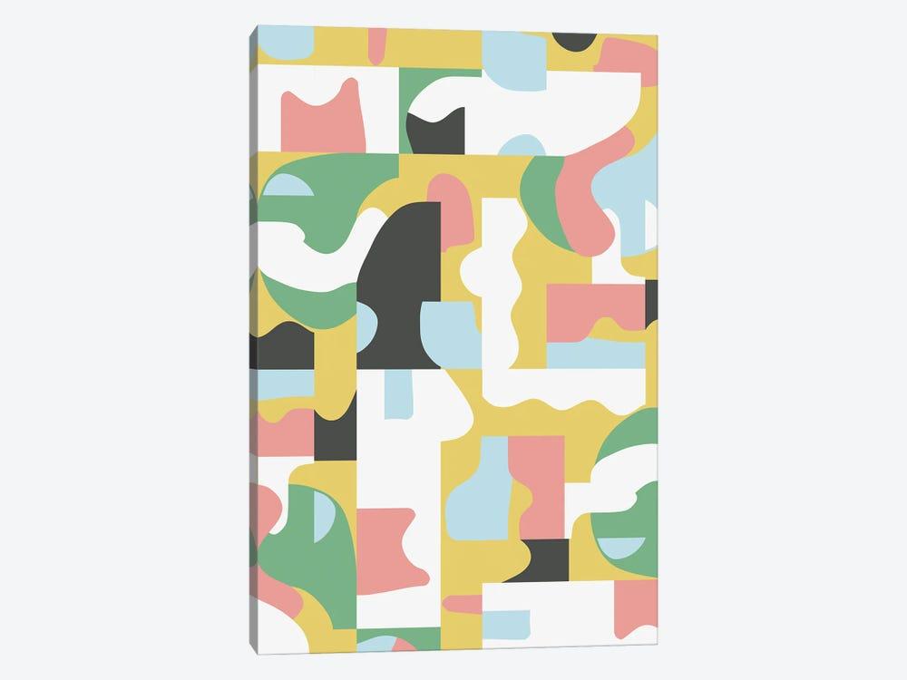 Organic Matisse Blocks Pink Mustard by Ninola Design 1-piece Art Print