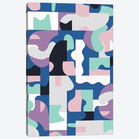 Organic Matisse Blocks Blue Pink Canvas Print #NDE240} by Ninola Design Art Print