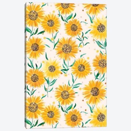 Summer Countryside Sunflowers Canvas Print #NDE253} by Ninola Design Canvas Art