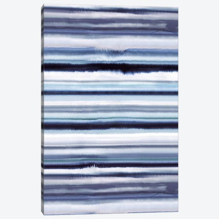 Degrade Ombre Stripes Blue Canvas Print #NDE28} by Ninola Design Canvas Wall Art