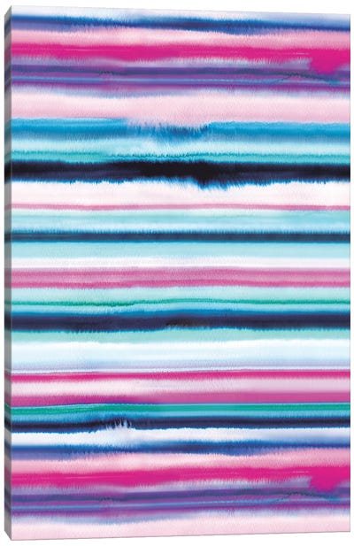 Degrade Ombre Stripes Pink Canvas Art Print