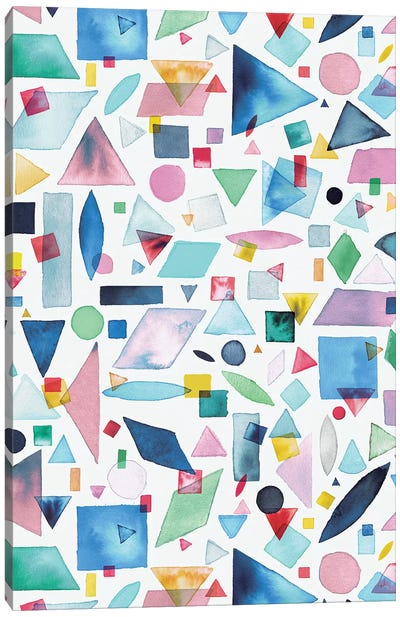 Geometric Pieces Multi Canvas Art Print