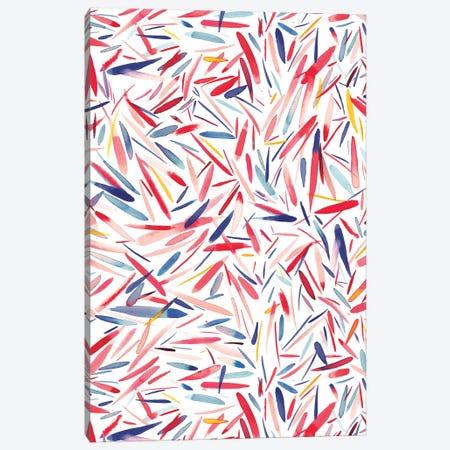 Holiday Rain Canvas Print #NDE45} by Ninola Design Art Print