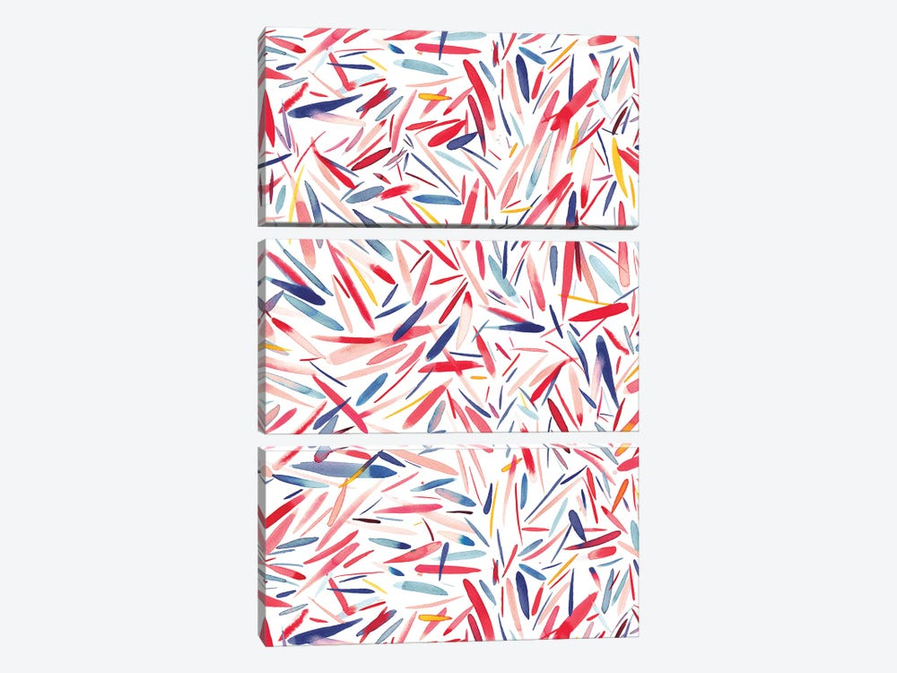Holiday Rain by Ninola Design 3-piece Canvas Wall Art