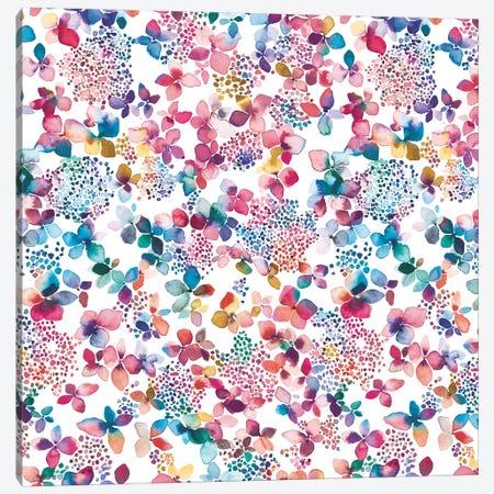 Hydrangea Colorful Canvas Print #NDE47} by Ninola Design Art Print
