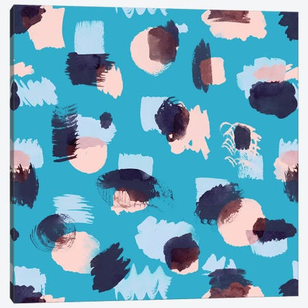 Abstract Stains Blue Canvas Print #NDE4} by Ninola Design Canvas Artwork