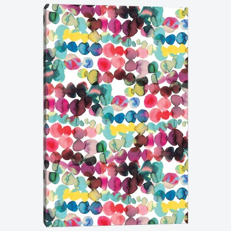 Ink Bleeding Dots Multi Canvas Print #NDE51} by Ninola Design Canvas Art Print