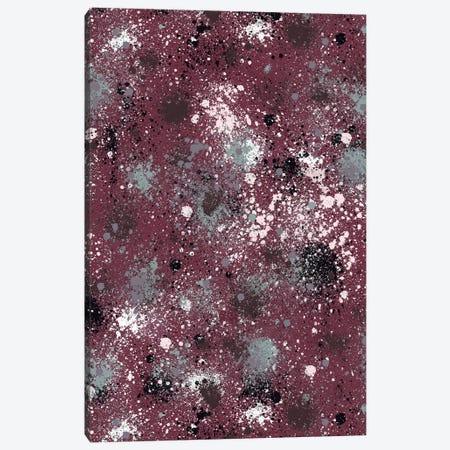 Ink Splatter Dust Burgundy Canvas Print #NDE54} by Ninola Design Canvas Art
