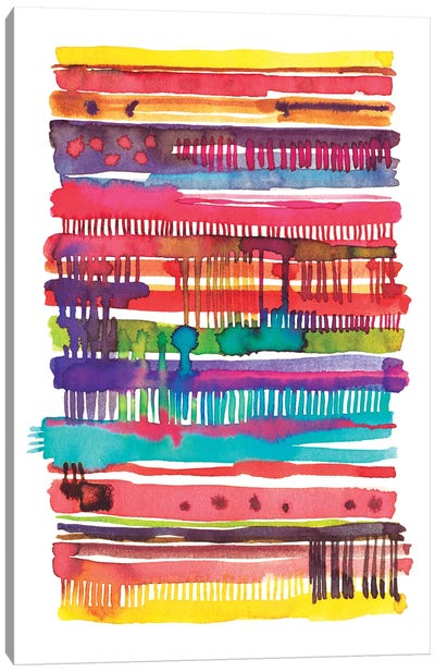 Irregular Watercolor Lines Vainica Canvas Art Print
