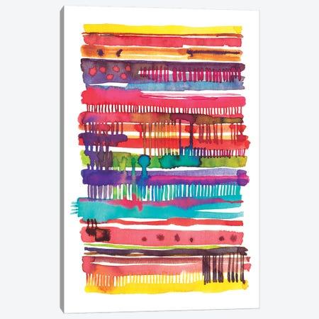 Irregular Watercolor Lines Vainica Canvas Print #NDE56} by Ninola Design Canvas Artwork